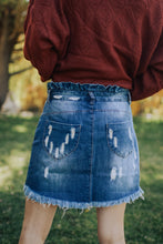 Load image into Gallery viewer, Women's High Waisted Denim Skirt