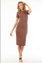 Load image into Gallery viewer, Ribbed Stripe Dress