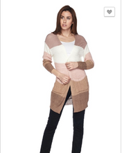 Load image into Gallery viewer, Long Sleeve multi-colored cardigan