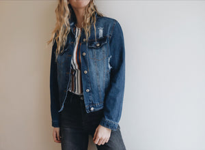 Distressed Blue Denim Jacket