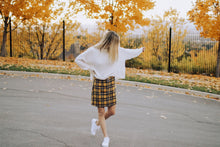 Load image into Gallery viewer, Zipper Plaid Skirt in Yellow