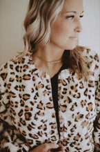 Load image into Gallery viewer, Leopard Faux Fur Jacket