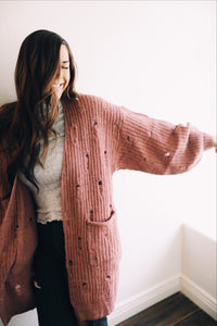 Distressed Knit Cardigan