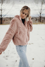 Load image into Gallery viewer, Mauve Faux Fur Jacket