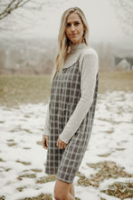 Load image into Gallery viewer, Checked Plaid Overall Dress