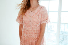 Load image into Gallery viewer, Lace Button-Up Dress