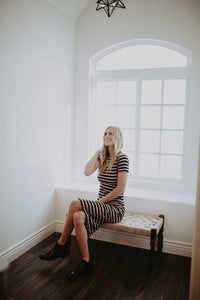 Ribbed Stripe Dress