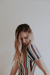 Multi-Stripe Crop Tee