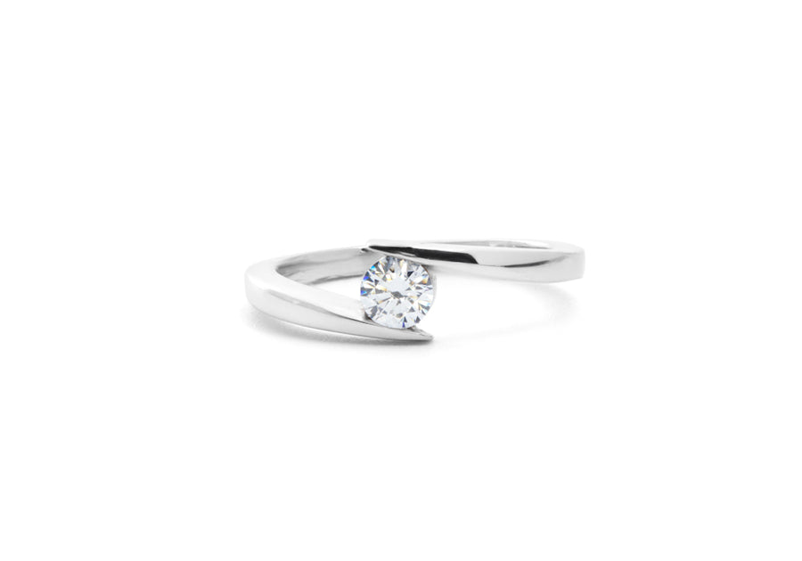 bague fiançailles moissanite or blanc hello you 25