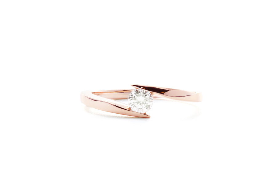 bague fiançailles moissanite or rose hello you 25