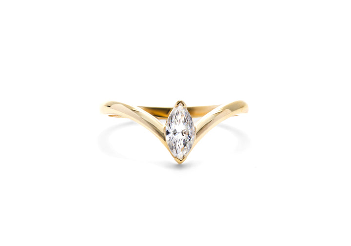 engagement rings diamond marquis yellow gold I desire you