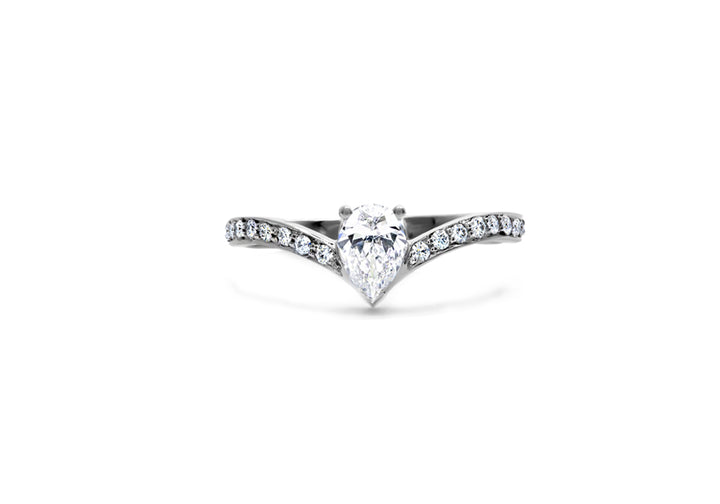 engagement ring pear diamond diamond white gold the beauty of his dreams