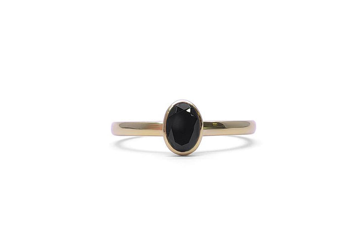 ring natural spinel face yellow gold wait for me