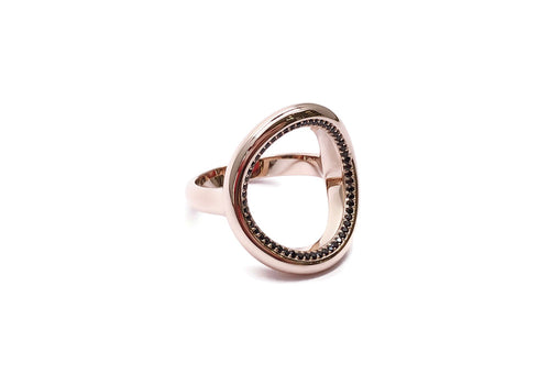 ring 56 pink gold spinels good karma side