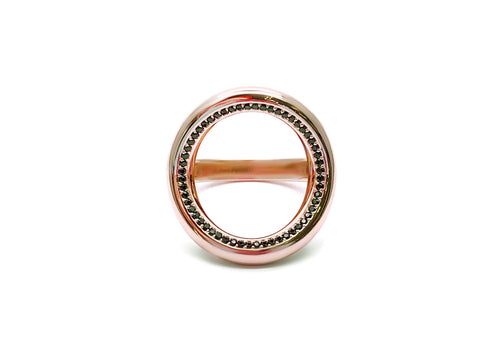 ring 56 spinels pink gold face good karma