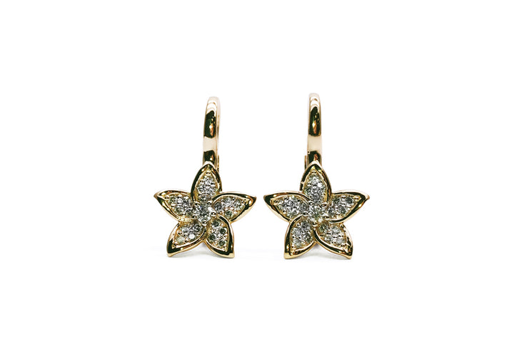 earrings lab diamonds yellow gold beauty of the islands