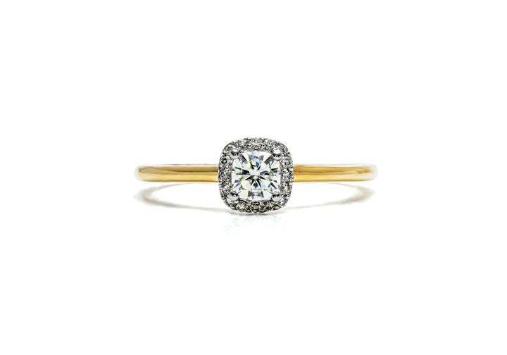 cherished natural diamond ring yellow gold