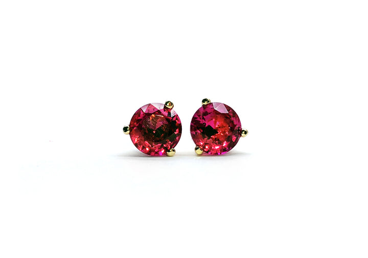 earrings ruby red raspberry face ruby