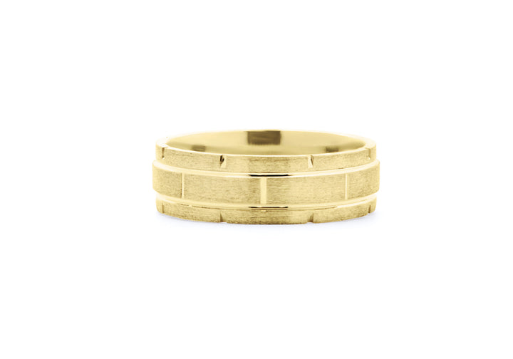 yellow gold man ring let's build our life together