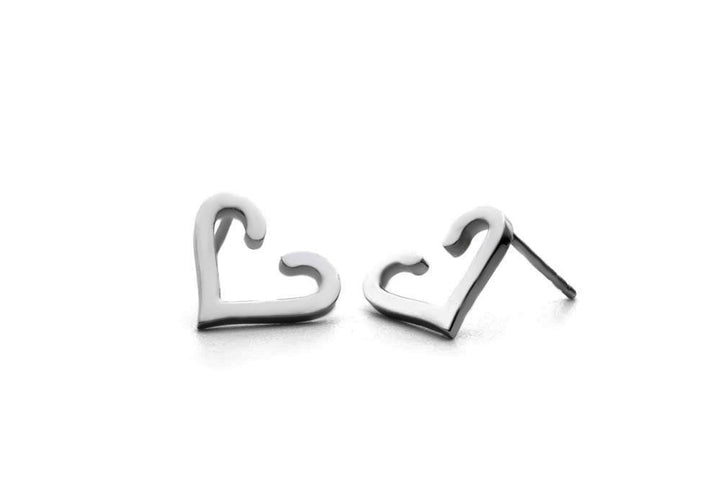 sterling silver heart earrings The friendship heart hanger