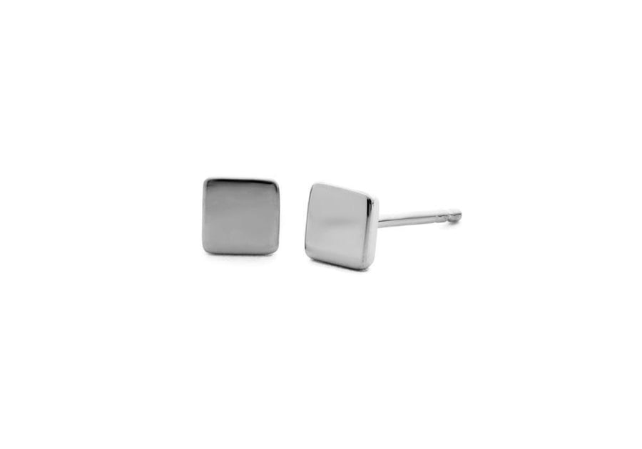 silver square earrings go anywhere
