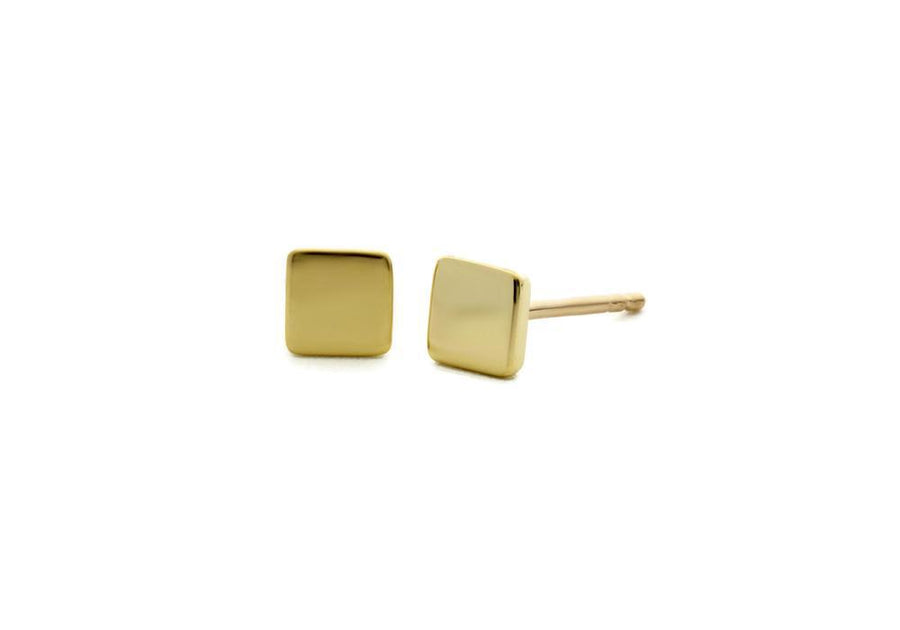 square yellow gold earrings go everywhere