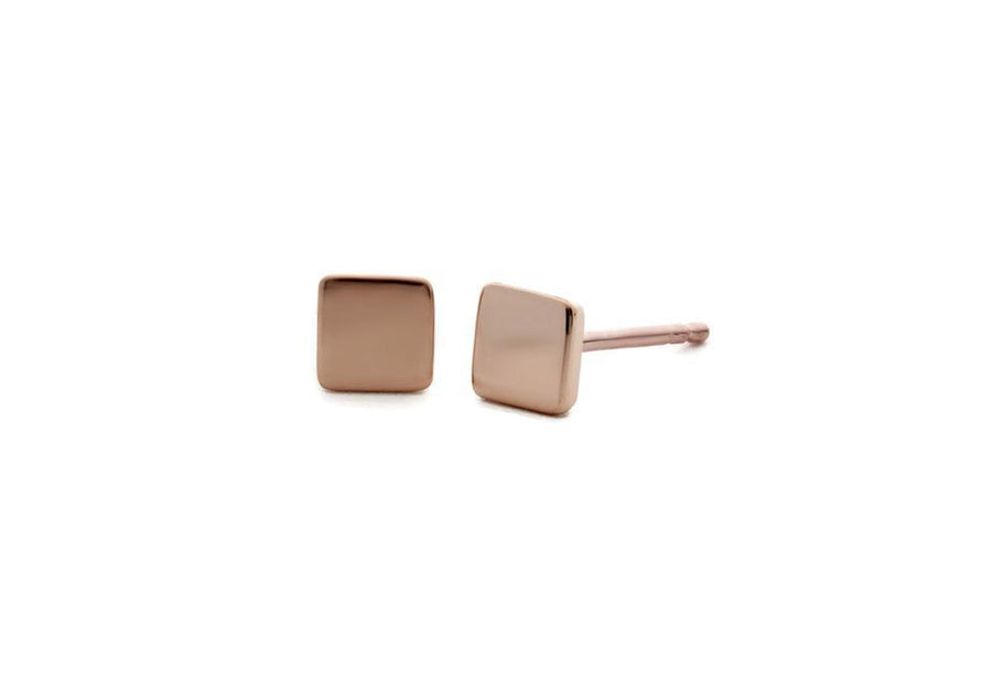 square rose gold earrings go everywhere
