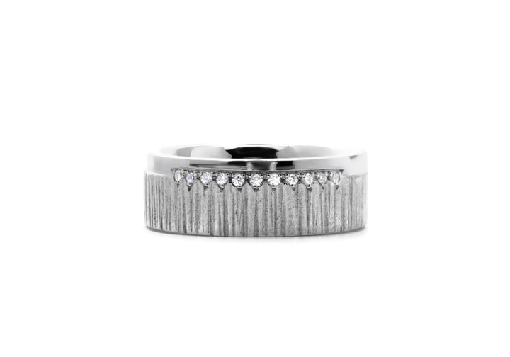 men's ring diamonds white gold L'aventurier du large ruisseau pavé