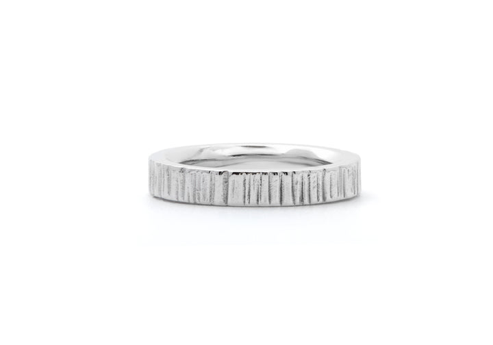 wedding band ring man sterling silver L'aventurier du petit ruisseau