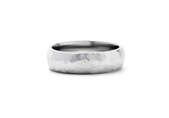 wedding band silver man hammered adventurer of the lakes