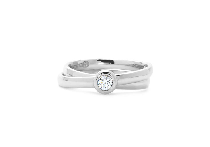 laboratory diamond cross ring white gold unison diamond ring