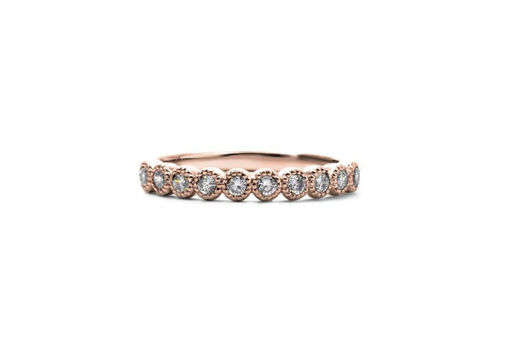 Semi-eternity ring rose gold love has no age