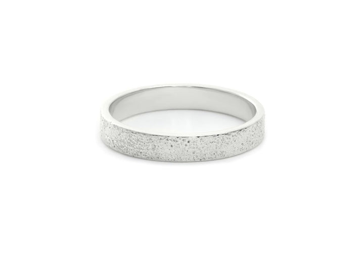 single crosspiece sterling silver textured women's ring