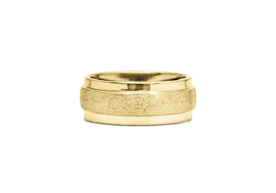 classic wedding ring man yellow gold large muscular