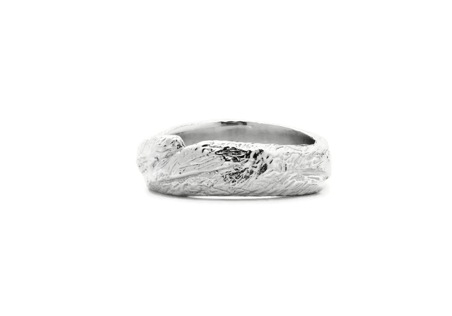 Wedding band man sterling silver adventurer of the woods