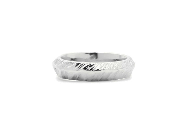 wedding band man sterling silver mountain adventurer