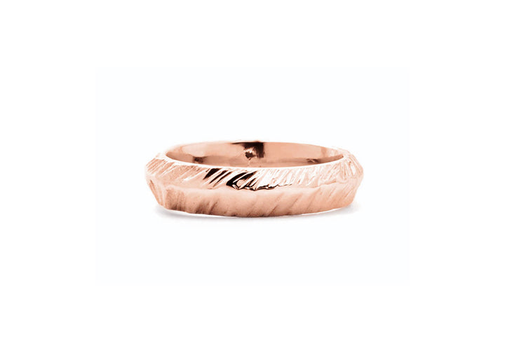 wedding band for man rose gold wedding ring mountain adventurer