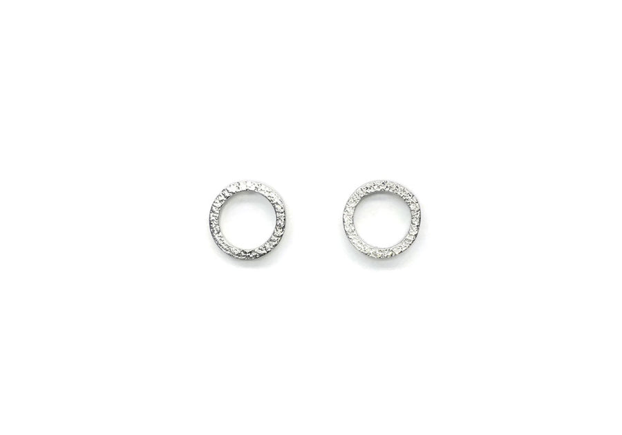 earrings child round minimalist sterling silver