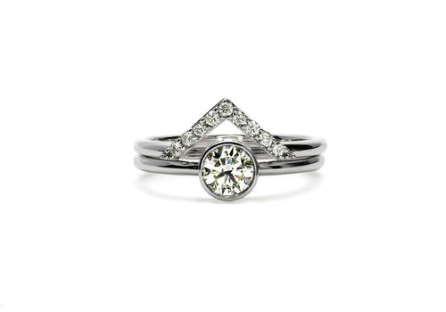 duo bagues moissanite or blanc le nid d amour