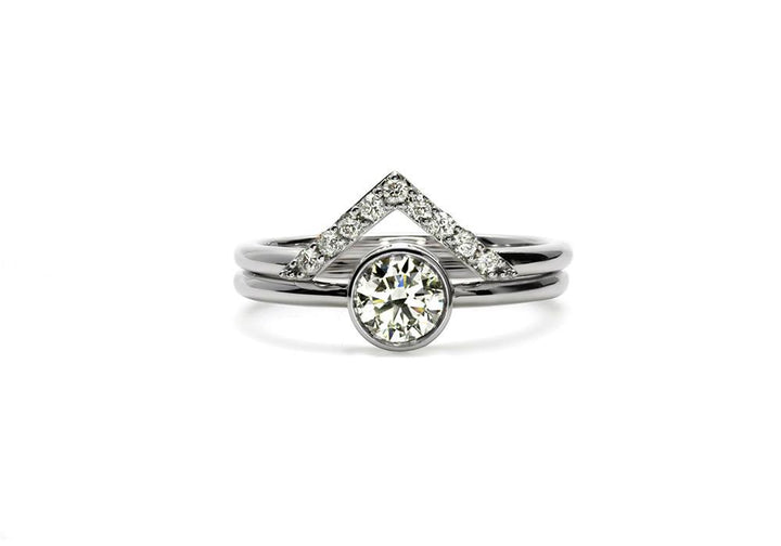duo rings moissanite white gold le nid d amour