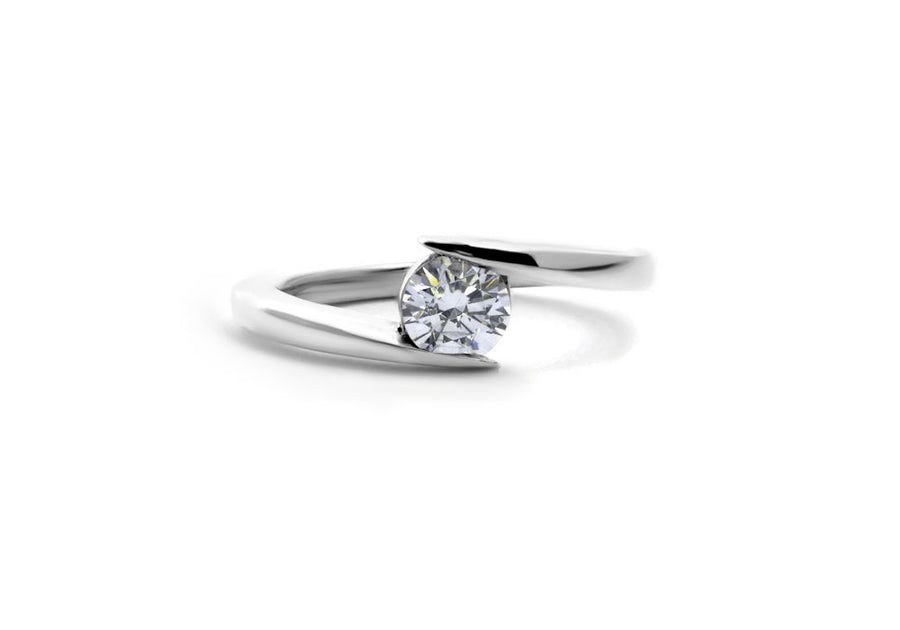 bague fiançailles moissanite or blanc hello you 50