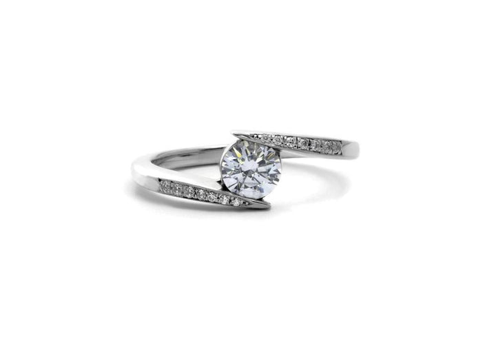 diamond engagement ring in pavé white gold hello you