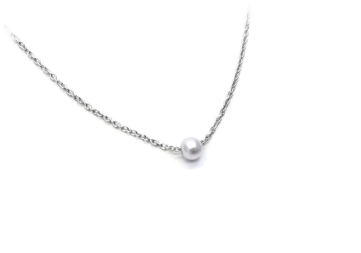 necklace 1 bead sterling chain snowball