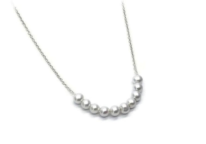 necklace of 10 sterling silver beads 10 snowballs