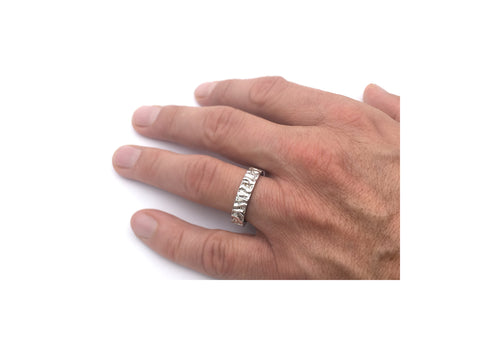 ring rush man sterling silver rush wedding ring man white gold The adventurer of the rivers hand