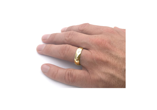 wedding band man yellow gold adventurer of the lakes hand