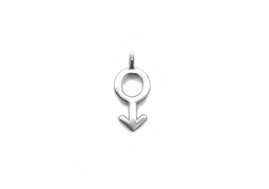 single man charm sterling silver