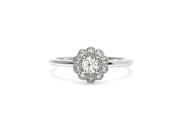ring moissanite white gold c is romantic