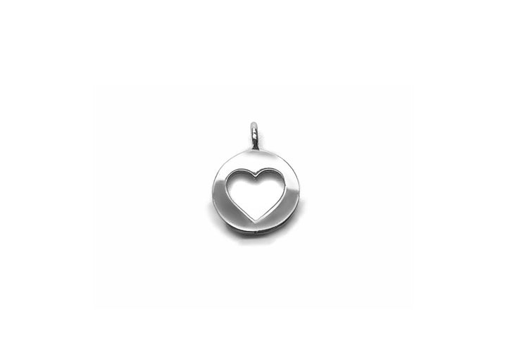 sterling silver heart charm face