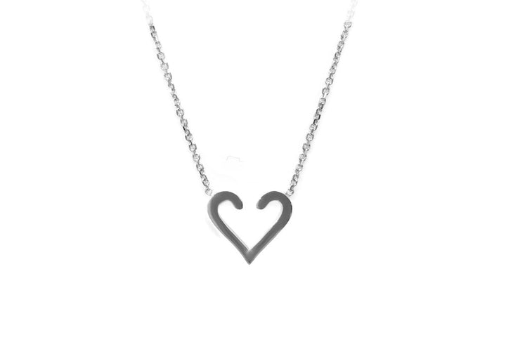 sterling silver heart pendant L'acccrohe-coeur d'amour
